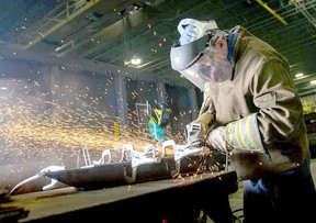 Overall net employment in the Stratford-Bruce Peninsula economic region decreased by 200 last month, which saw the number of goods-producing jobs drop by a net 1,700 positions, due, in part, to significant losses in manufacturing and utilities. FILE PHOTO/POSTMEDIA NETWORK