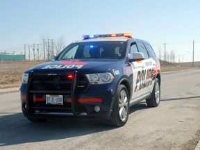 A cruiser with the Woodstock Police Service.