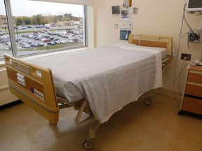 """Quinte Health Care hospitals have some capacity for new patients, a vice-president says, but some of that is in extra """"surge"""" beds."""