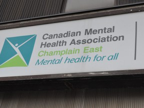The Canadian Mental Health Association's Champlain East office on Pitt Street. Photo on Friday January 15, 2021 in Cornwall, Ont. Francis Racine/Cornwall Standard-Freeholder/Postmedia Network