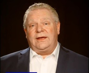 Premier Doug Ford urges people to stay home in multiple languages in a video posted to Twitter.
