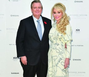 Edward and Suzanne Rogers, of the Edward and Suzanne Rogers Foundation, donated $1-million to the St. Joseph Foundation of Elliot Lake for equipment that St. Joseph General Hospital needs. Suzanne Rogers was born in Elliot Lake's St. Joseph General Hospital.