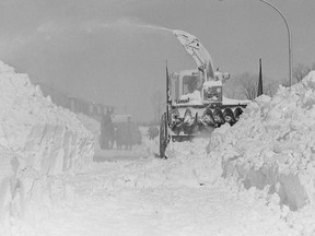 The Great Blizzard of 1971 paralyzed the region for three days. Submitted