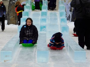 A fan favourite, the ice slide, will not be enjoyed this year as Winterfest and ICE-tacular will not go forward as a result of the pandemic. Kathleen Smith
