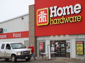 The Home Hardware in Lively is offering curbside pick-up because of the pandemic lockdown order in Ontario. Those restrictions will ease on Tuesday.