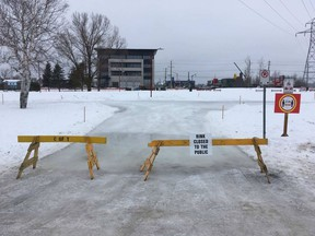 Timmins Community Park Association advises that due to the mild temperatures and softening ice, the city has temporarily closed the skating path in Hollinger Park. It will remain closed to the public until further notice.  Supplied