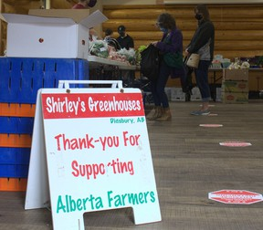 Community Food Market pilot project is organized by the Bow Valley Food Alliance as an affordable food market that supported local food producers while also making local foods more accessible and to community members in the Bow Valley.