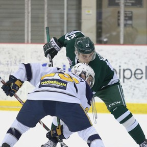 Regardless of what form it takes, the Sherwood Park Crusaders will welcome any chance to get any actual games in over the next couple months. Photo courtesy Target Photography