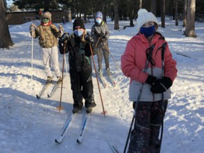 Grade 5/6 students at St. John Bosco Catholic School in Barry's Bay have been cross-country skiing regularly for physical education class this winter.
