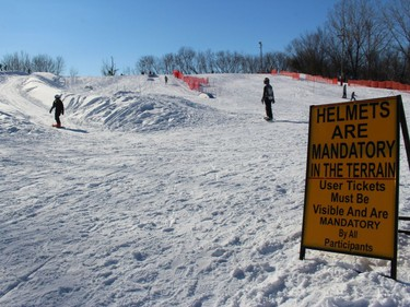 There was plenty of snow, sunshine and fun on Sunday afternoon. Photo on Sunday, February 21, 2021, in Cornwall, Ont. Todd Hambleton/Cornwall Standard-Freeholder/Postmedia Network