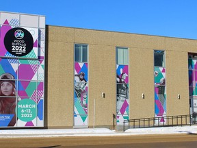 The Wood Buffalo 2022 Arctic Winter Games building at the corner of Franklin Avenue and Hardin Street in downtown Fort McMurray on Thursday, February 18, 2021. Laura Beamish/Fort McMurray Today/Postmedia Network