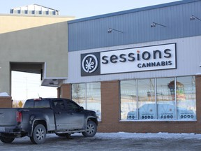 Sessions Cannabis store is all set to open in Timmins on Thursday, Feb. 25. They are located in the plaza at 425 Algonquin Blvd. E., Unit 4, filling the commercial space previously occupied by Party Hat.  RICHA BHOSALE/The Daily Press