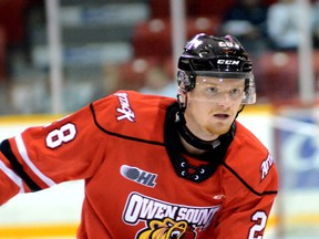 Owen Sound Attack defenceman Mark Woolley recently headed to Slovakia on loan from the Attack to play for HC Humenne in the Slovak second league (known as 2.Liga or 2HL). Woolley is the latest of seven Attack players who have travelled to Europe on loan to play hockey while the Ontario Hockey League is shut down.
