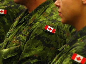 Canadian Armed Forces members are pictured in this undated file photo. PHOTO BY FILE PHOTO /Postmedia Network
