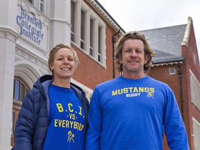 Jen Link and her husband, Marc Cohoon, are physical education teachers at Brantford Collegiate Institute. They say high school students are feeling the effects of the pandemic with the cancellation of sports and extracurricular activities.