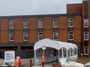 North Grenville's COVID-19 assessment centre is seen on Friday afternoon. (HEDDY SOROUR/The Recorder and Times)