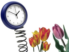 Clocks spring forward to Daylight Savings Time at 2 a.m. on Sunday, March 14, 2021.