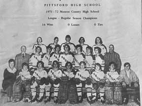 Don Cherry coached the Pittsford Knights to the Monroe County High School Hockey League championship in the 1972-73 season while also coaching the Rochester Americans of the American Hockey League.