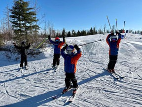 Members of the Fort McMurray Ski Team compete in Canada's Top Peak by Mackenzie Investments. Supplied image