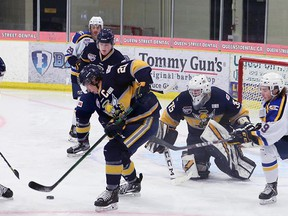 The Spruce Grove Saints look to regroup after dropping a 10-4 decision Friday and a 4-1 loss to the Oil Barons Sunday. The Saints will close out their eight game series against Fort McMurray this weekend with games Friday night in Spruce Grove and Sunday afternoon in Fort McMurray.