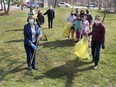 Liz Kominek, front left, and Lynda Weese, front right, are among the Dresden residents leading Operation Clean Sweep, another initiative by the citizen group Dresden Shines, encourage residents to clean up the community during Earth Week, April 18-24. Ellwood Shreve/Postmedia Network