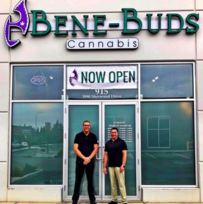 Adam Holloway (left), president and founder of Bene Buds Cannabis. File Photo