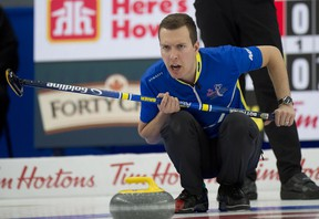 Sherwood Park's Brendan Bottcher was unable to repeat his Brier success at the recent Worlds, losing out in the playoffs to Scotland. Michael Burns/Curling Canada