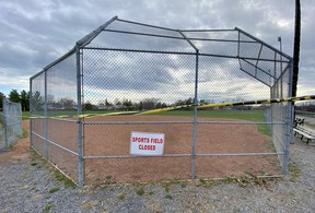 The Ontario government closed outdoor amenties such as sports fields and golf courses as they extended the provincewide lockdown on Friday afternoon.