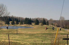 Golfers enjoy a day at Osprey Links in Callander, April 8. Nugget File Photo