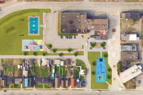 An overhead view of what Anna Marinelli Park will look like when improvements are made. PHOTO SUPPLIED