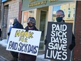 """Citizens rallied in Blyth in front of Huron-Bruce MPP Lisa Thompson's office Feb. 26 to promote the """"Stay Home If You Are Sick Act."""""""