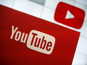 A YouTube logo is seen at the YouTube Space LA in Playa Del Rey, California October 21, 2015.