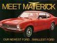 An early advertisement for the new 1970 Ford Maverick.