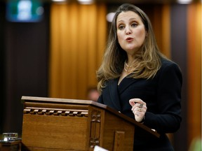 Finance Minister Chrystia Freeland unveiled the federal budget on Monday.