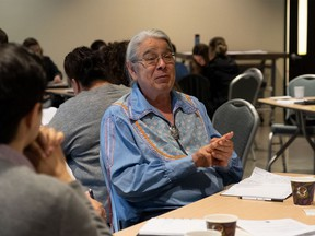 A Stephany Hildebrand photo of Henry Lickers, at an indicator workshop, earlier on in the development of the Great River Rapport.  Handout/Cornwall Standard-Freeholder/Postmedia Network  Handout Not For Resale