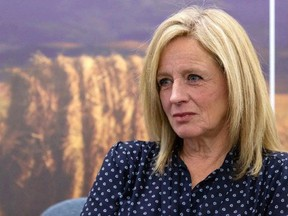 Alberta Opposition NDP leader Rachel Notley sits for a year-end interview with Postmedia at the Federal Building in Edmonton.
