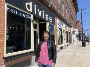 Michelle Edgar, owner of Divine Hair Studio and Boutique in Napanee, is questioning the Ontario government's decision to close hair salons yet again, during the province's third shutdown.