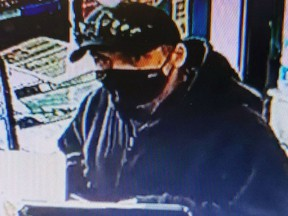 Ontario Provincial Police are searching for a man they said used fraudulent credit cards at businesses in Napanee on Tuesday.