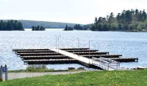File photo The city is considering renting out some of the boat slips at the Elliot Lake Boat Launch by the season and others for short terms.