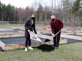 The Township of Laurentian Valley is excited to launch its community gardens project, thanks to funding from the County of Renfrew in 2020. Plots are available at the Shady Nook Recreation Centre, where community development officer Katie Tollis and Mayor Steve Bennett recently visited, as well as the Alice and Fraser Recreation Centre. Plots are available on a first-come first-serve basis. Planting will begin May 22.