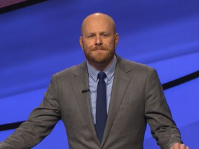 With his two-game win streak in jeopardy, Tavistock's Scott Shewfelt created a viral moment to cap his appearance on the legendary game show he first started watching three decades ago with his grandparents.