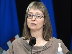 Alberta's chief medical officer of health, Dr. Deena Hinshaw.  CHRIS SCHWARZ/Government of Alberta