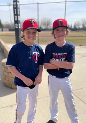 Ryder and Wesley Jespersen with the 13U AAA Parkland Twins, are seen here preparing for a recent practice. The Parkland Minor Ball Association has begun indoor practices for their rep program teams and anticipate outdoor practices to begin at Spruce Grove ball diamonds in early May.