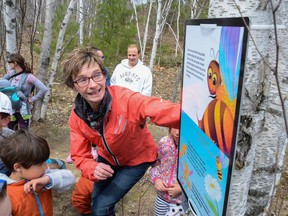 In this file photo, Melissa's Magnificent Message is read on the Hillfield Trail at Fielding Park in Lively. Supplied