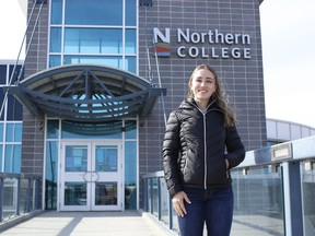Megan Theriault, a Northern College student who is finishing her third year of bachelor of science in nursing,  said COVID-19 posed some challenges to students looking to gain work experience through job placements last year. The situation is different for Theriault this year as she is set to start her placement this summer as a personal support worker at a local long-term care home.  RICHA BHOSALE/The Daily Press