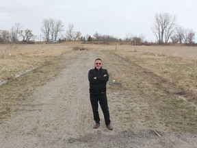 Realtor Peter Allaer, owner of Riversite Realty, says the Bruinsma subdivision in Wallaceburg, which hasn't seen any home construction in several years, could have construction begin on new homes as soon as the summer if the land's owner would take action. Wallaceburg is missing out on the residential building boom in Chatham-Kent as well as across the province, because there is no land currently available to construct new subdivisions. Ellwood Shreve/Postmedia Network