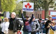 About 300 people attended an anti-lockdown rally at Tecumseh Park in Chatham on Monday. Among the speakers were MPP Randy Hillier and MP Derek Sloan. Mark Malone/Postmedia Network