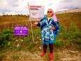 Six Nations elder Norma Jacobs deplored the disturbance to the Earth at a housing development on Garden Avenue Saturday during a caravan protesting alleged encroachments on traditional aboriginal land within Brantford city limits. The caravan visited eight sites in total.