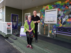 Wabamun's Gossamer Gallery & Gifts, owned by Lois (left) and Len (right) Hannam, has been named a finalist in the 2021 Alberta Business Awards of Distinction (ABAD). Photo by Sharon Samartino.