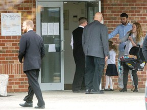 The Aylmer Church of God held a service indoors against Covid-19 restrictions on Sunday May 2, 2021. Mike Hensen/The London Free Press/Postmedia Network